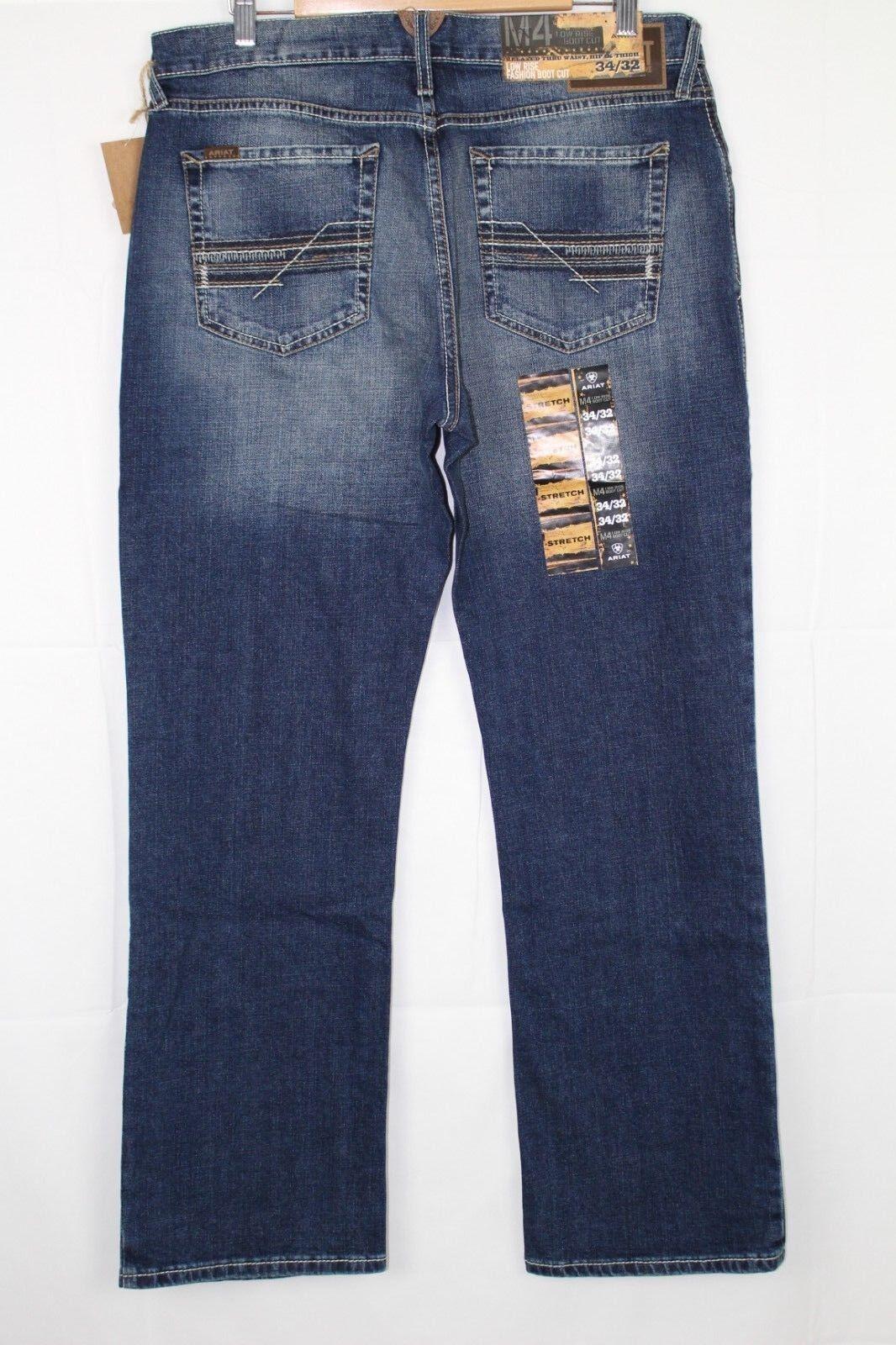 New Ariat Men's M4 Low Rise Boot Cut Jeans 34 36 40 Cinder Wash
