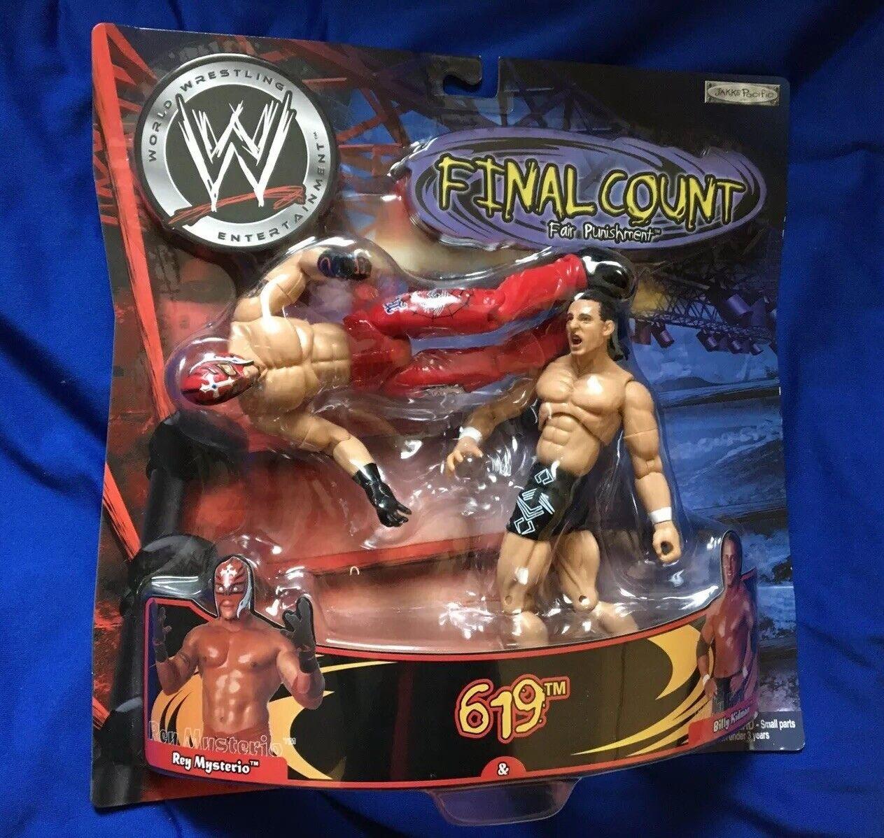 Conteggio finale WWE statuina Rey Mysterio BILLY KIDuomo 619 finitura si muove cifra Wrestling