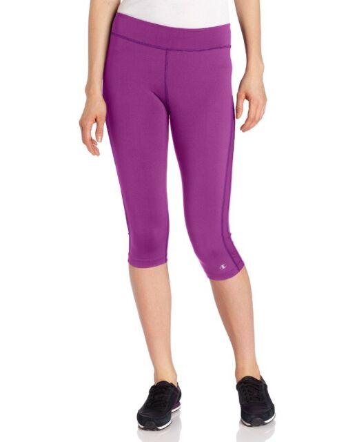 08ff3f44eeac Champion Women s Absolute Workout Tight Fit Capri Legging Pink Purple Berry  XS