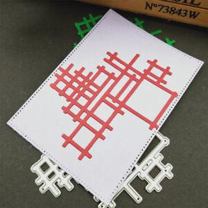 Metal cutting dies cut Irregular net background Scrapbook album paper craft@/&