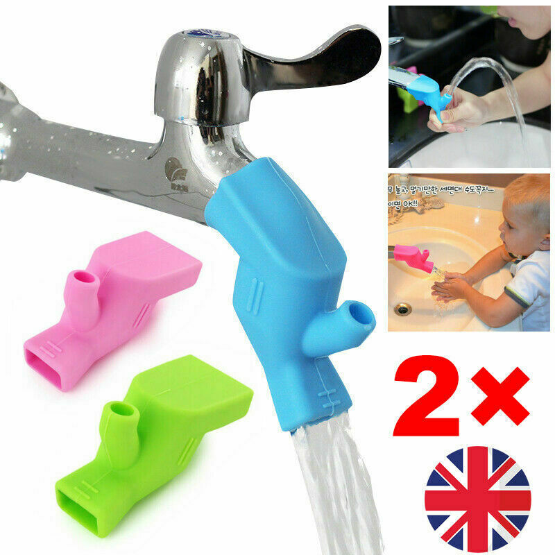 2pcs Travel Silicone Water Aqua Tab Tap Bathroom Wash Hands Gargle Mouth Kids