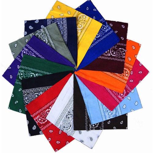 746 Bandanas-100 /% COTON-écharpe-foulard-chale-bandeau-bandana-echarpe
