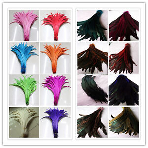 Wholesale-10-200pcs-30-35cm-12-14inch-Beautiful-Rooster-Tail-Feathers-U-Pick