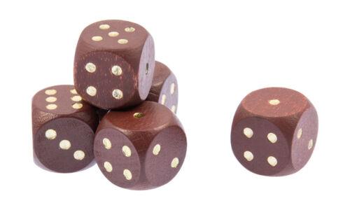 Würfel aus Holz 16 mm brau Holzwürfel Augenwürfel Spielewürfel  Würfelspiel