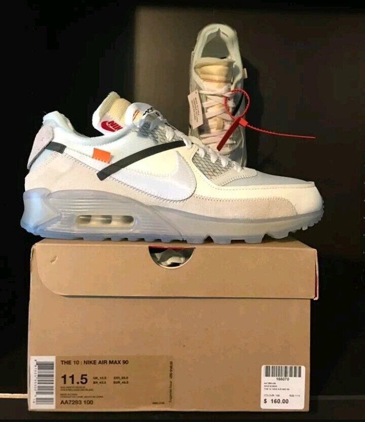 The Ten - Nike Air Max 90 x Off White - Size 10 - RARE!! StockX Authentic
