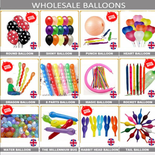 De gros ballons 100-5000 Latex Vrac Prix joblots Qualité Toute Occasion balons