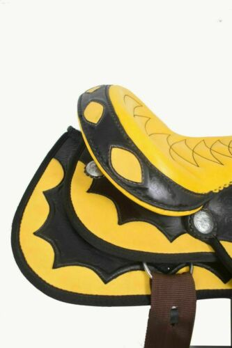 """12/"""" to 18/"""" Inch Details about  /New Synthetic Western Horse saddle Yellow Color Size"""