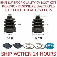 2 REAR INNER OUTER ATV CV Boot Kit 1106 FIT 2004 - 2008 YAMAHA GRIZZLY 660 4X4
