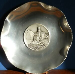 An-Aluminium-Wall-dish-plaque-Lugano-Castagnola-by-Sigg-Switzerland