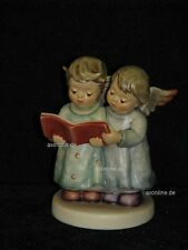 """Goebel Hummel 261 """"Stille Nacht"""", Angel Duet, zwei Engel singen mit Buch"""