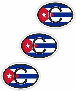 Image Is Loading Cuba C Small Country Code 3x Oval Flag