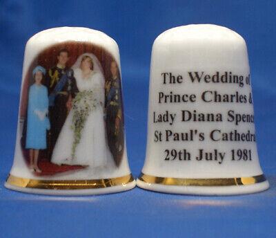 Free Box Diana a Princess Remembered Birchcroft Porcelain China Thimble