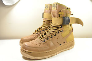 new arrival e2678 ca333 Details about NIKE 2016 SF AF1 SPECIAL FEILD AIR FORCE 1 GOLDEN BEIGE 6  SUPREME SAFARI MAX 1