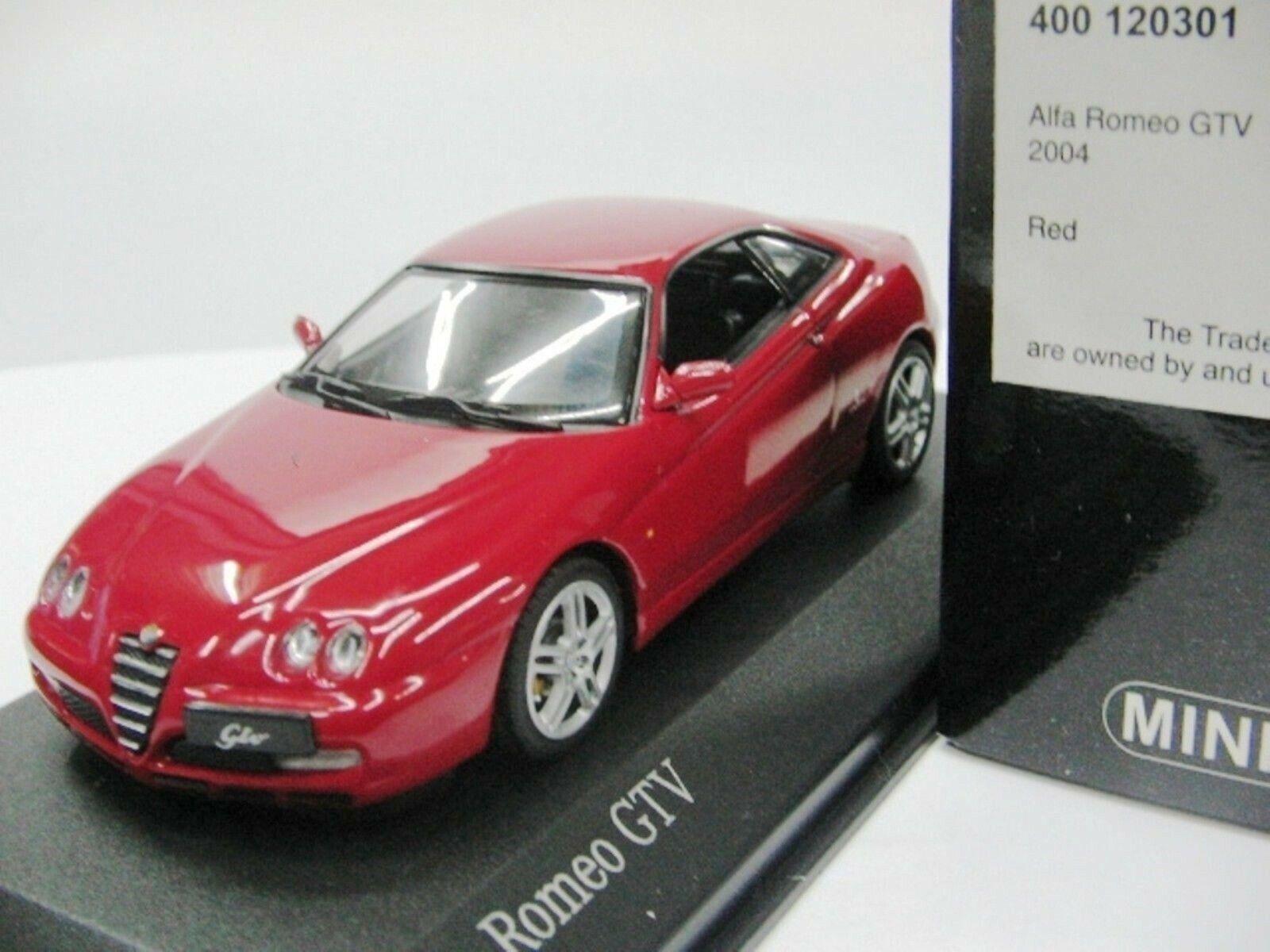 WOW EXTREMELY RARE Alfa Romeo 916C GTV 3.2 V6 24V 2003 Red 1 43 Minichamps-164