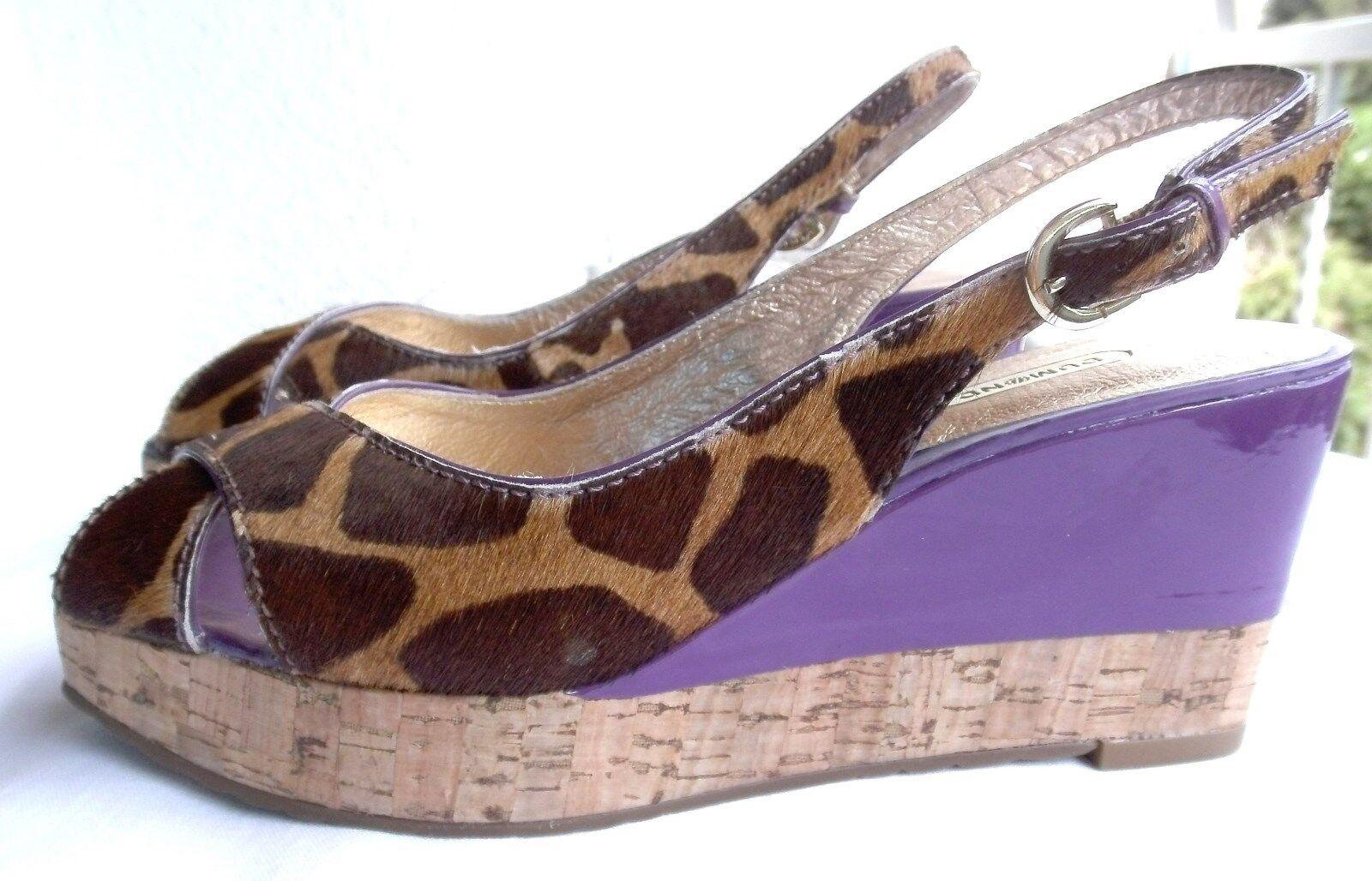 Sandaleette mit Keilabsatz und Plateausohle von Dumond, Materialmix GR 37 NEU