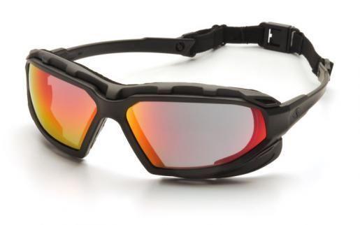 Pyramex Highlander Plus SBG5055DT Red Mirror Lens Safety Glasses AntiFog Eyewear