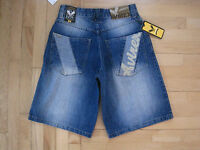 Men's Avirex High Quality Distressed Denim Shorts Size 29-fast Shipping