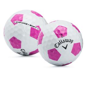 24-Callaway-Chrome-Soft-truvis-rose-blanc-AAAAA-5-A-utilise-des-balles-de-golf