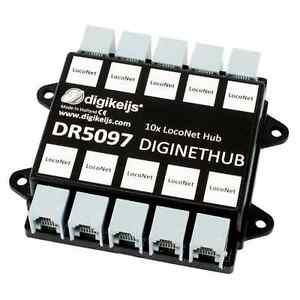 DIGIKEIJS-DR5097-DigiNetHub-10-Way-LocoNet-Splitter-Hub-Works-With-Digitrax