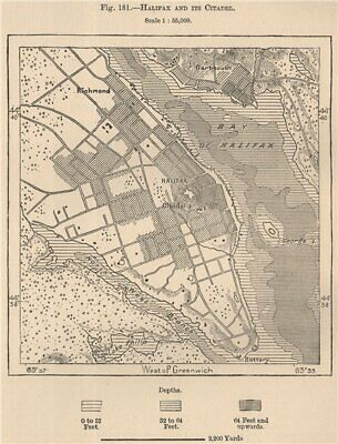 Amiable Halifax And Its Citadel. Canada 1885 Old Antique Vintage Map Plan Chart Supplement The Vital Energy And Nourish Yin