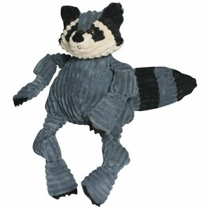 Hugglehounds-WOODLAND-KNOTTIE-RACOON-Squeaker-Dog-Toy-LARGE
