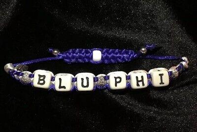 Phi Beta Sigma Inspired Shamballa Styled Bracelet BLU PHI