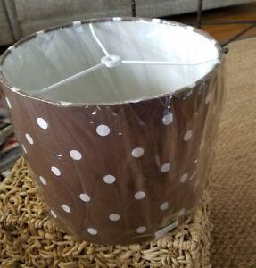 New Pottery Barn Teen Dottie Polka Dot Brown Table Lamp