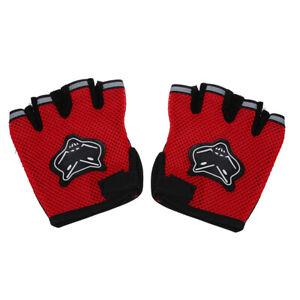 Paire-Gants-Mitaine-Protection-Pour-Moto-Velo-Sport-Femme-Homme-Rouge-B6W3