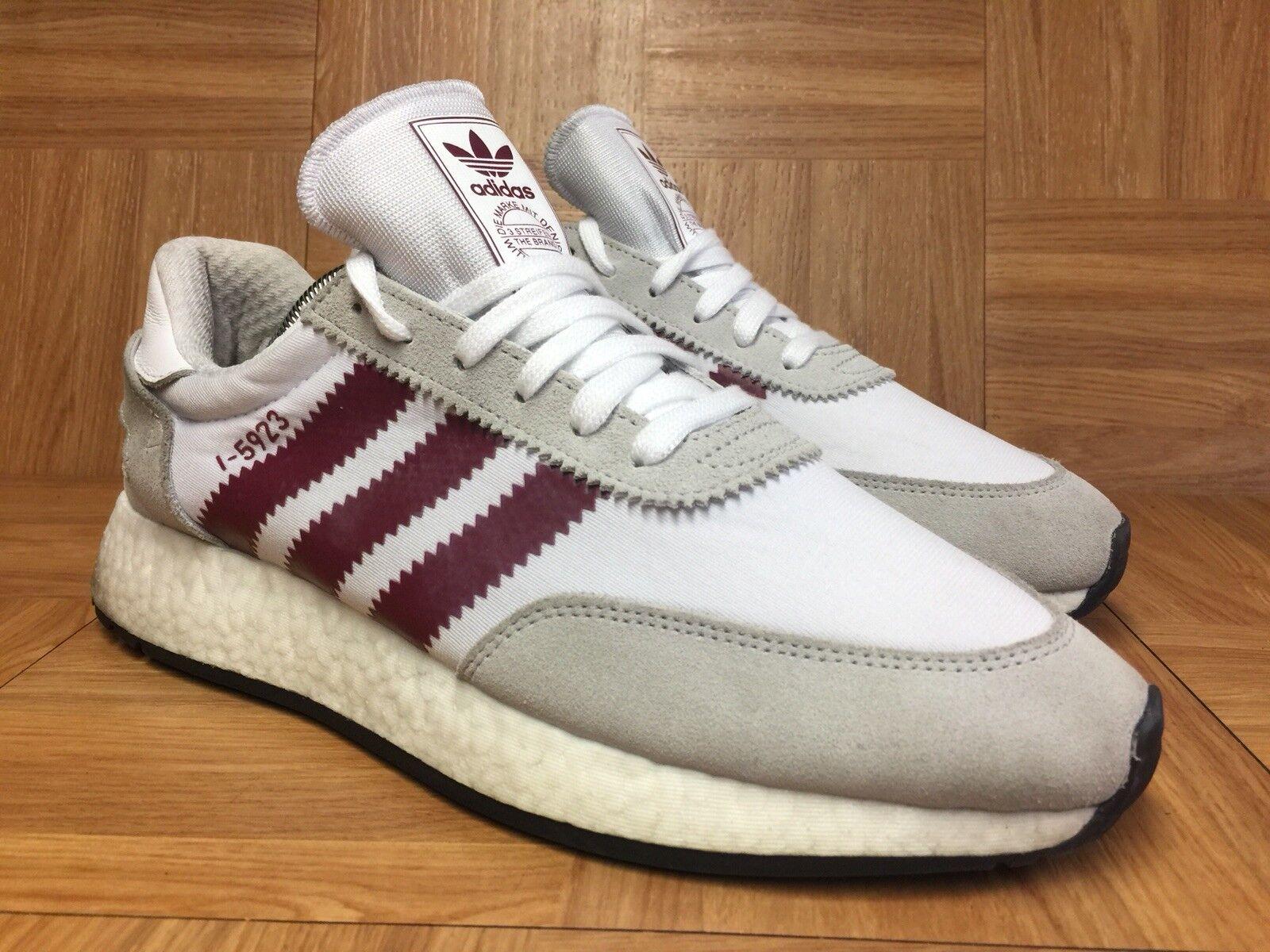 RARE Adidas Originals I-5923 White Collegiate Burgundy Men's shoes Sz 8.5