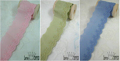"14Yds Broderie Anglaise colored Cotton eyelet lace trim 1.2"" YH1205 laceking2013"