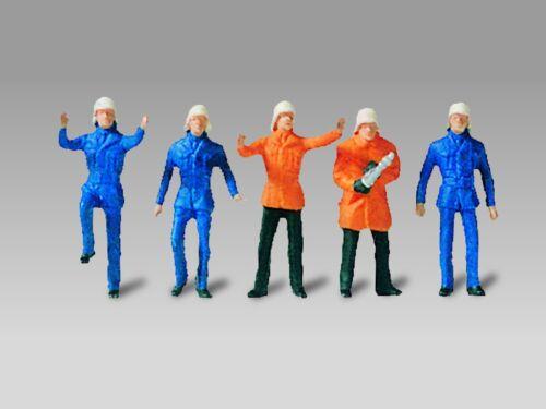 Vollmer 2216, H0 Figurines Kit De Montage, Pompiers, 1:87