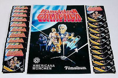 AMERICANA 1978 KAMPFSTERN GALACTICA - LEERALBUM EMPTY ALBUM + 20 Tüten packets