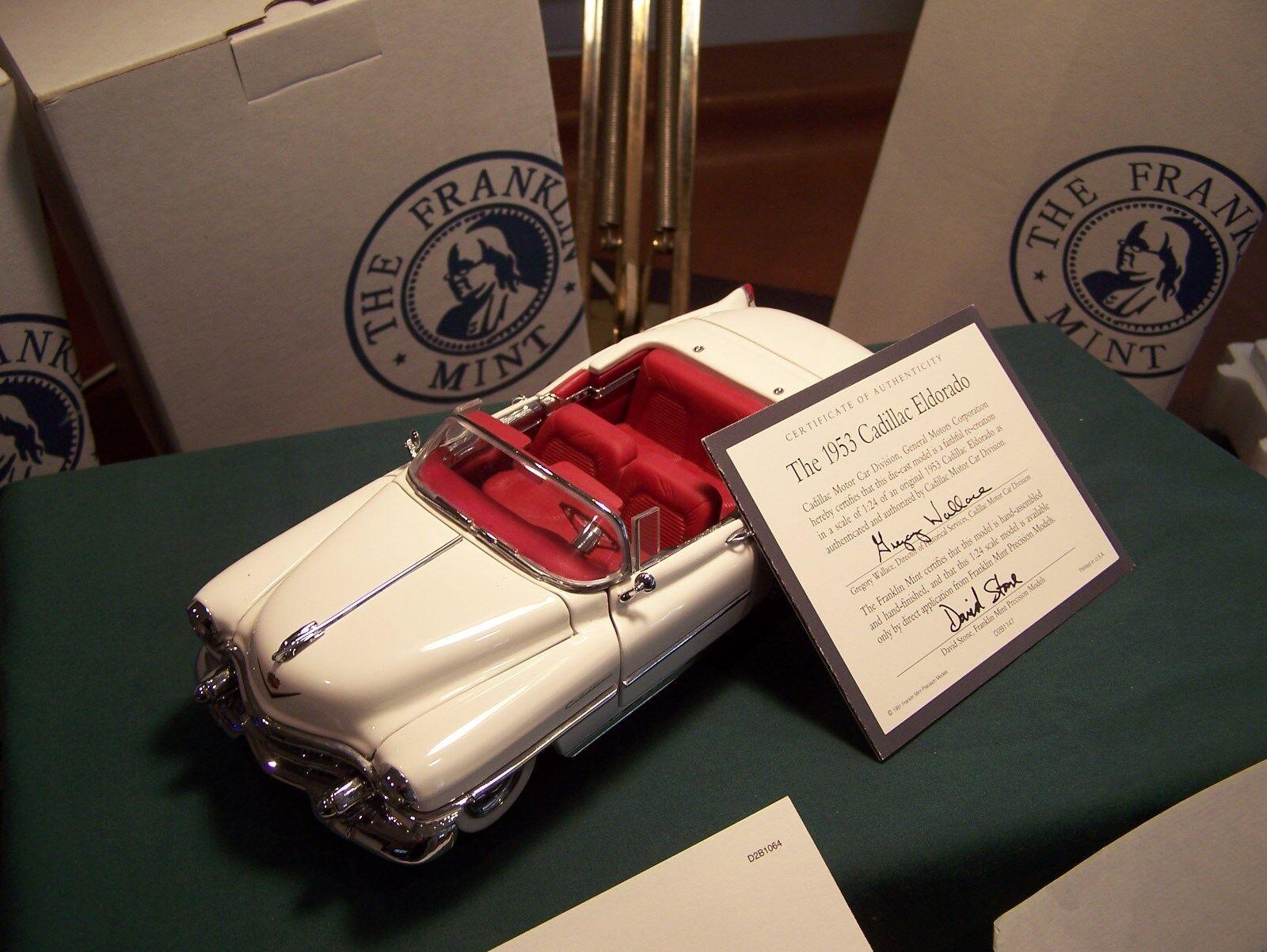Franklin mint 1953 weißen cadillac eldorado cabrio mint in der box