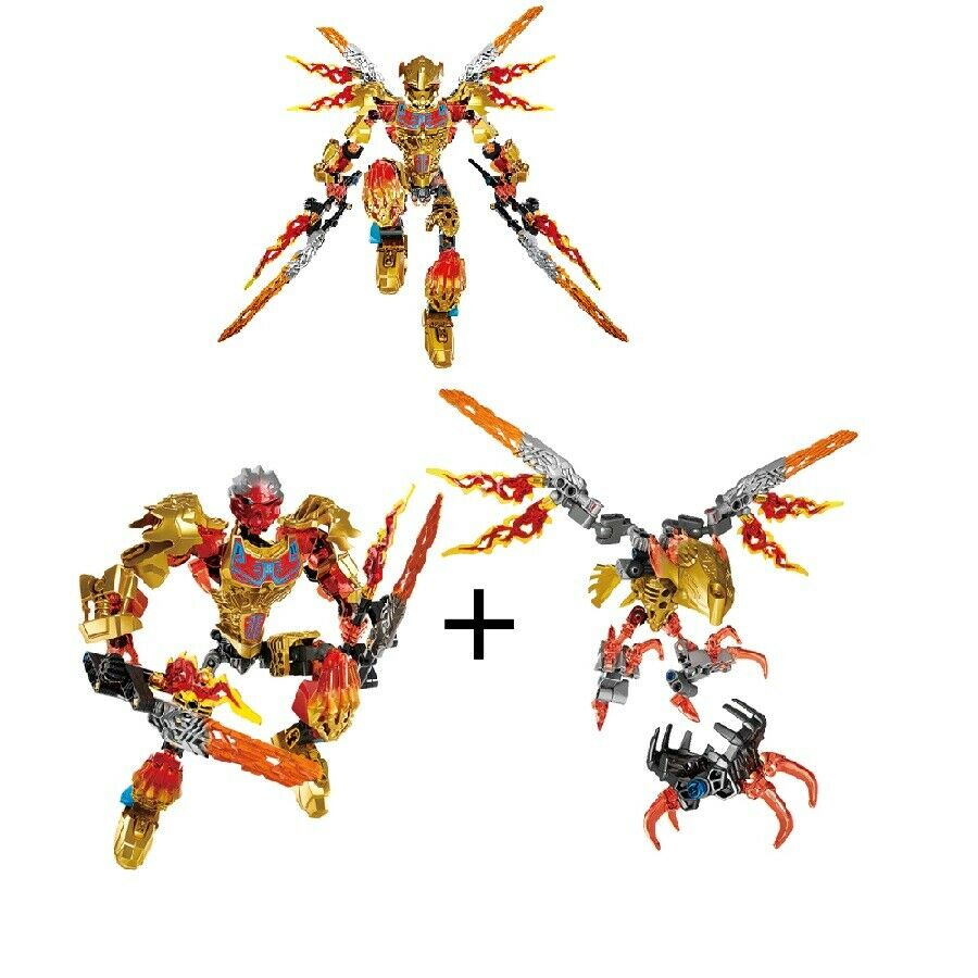 132pieces NEW Sealed BIONICLE Tahu Uniter of Fire Building Toy for Kids