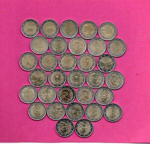 2 EUROS COMEMORATIVES FRANCE 2007,08, ,10, 11, 12,  13,14  ,15 ,16,17,18,19,20