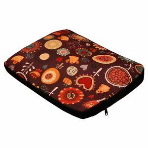 Nostaljia 14.1 Inch Fabric Multicolor Laptop Sleeve For Unisex