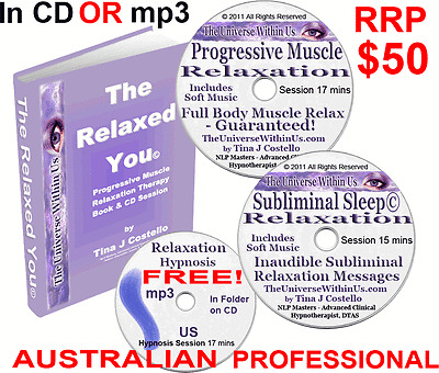 STRESS RELIEF RELAXATION PROGRAM PROGRESSIVE MUSCLE MASSAGE SUBLIMINAL CD  or mp3 | eBay