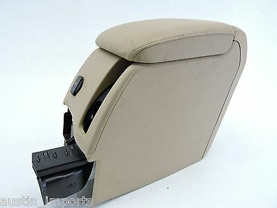 MK5 VW GTI LEATHER BEIGE REAR ARM REST CENTER CONSOLE ASSEMBLY W VENT -328 FS