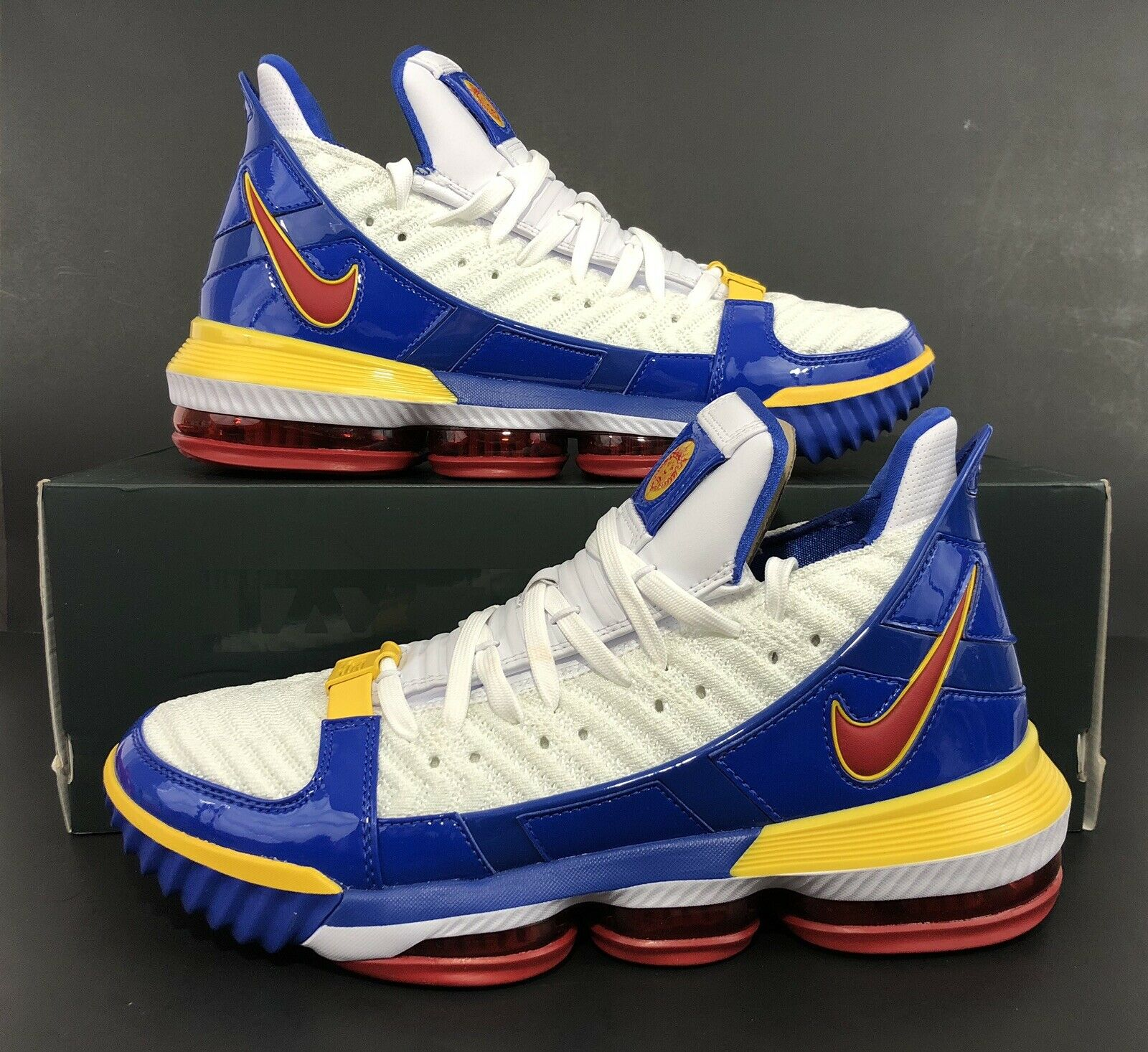 Nike LeBron XVI 16 SB SuperBron White Varsity Red bluee CD2451-100 Size 10