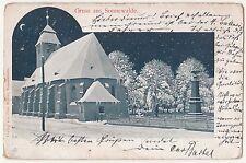 Litho Ak Gruss aus Sonnenwalde Kirche im Mondschein 1902 ! (A845