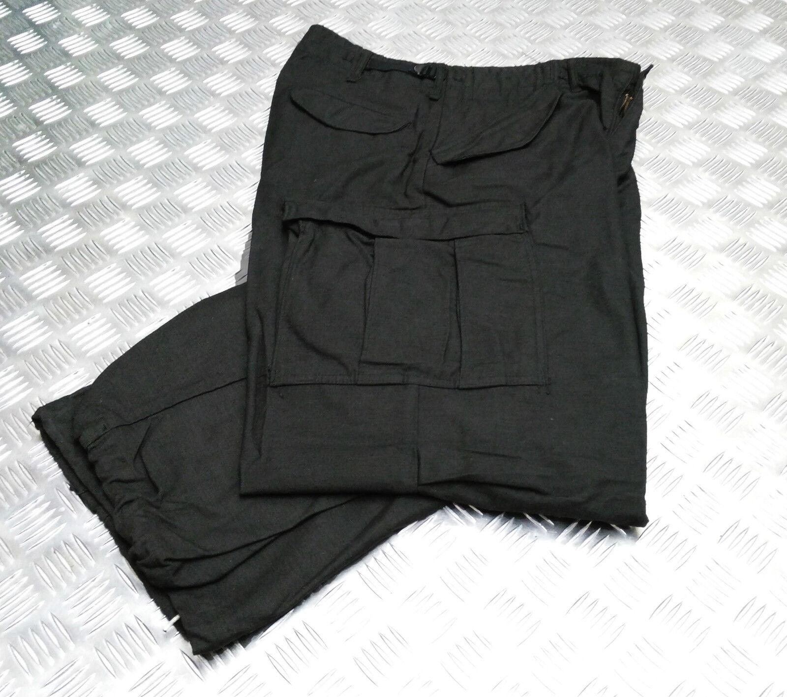 Echt Vintage Us Army M65 Hosen über Gefärbt Schwarz - Größe  M - Shorts