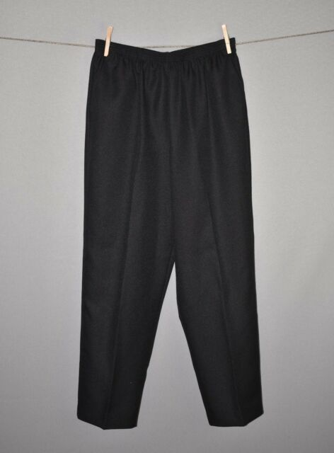 ALFRED DUNNER NEW $48 Black Proportioned Medium Straight Leg Pant Size 14