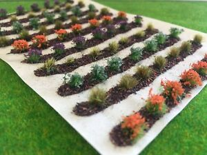Farm-Crops-x10-Set-05-Model-Railway-Static-Grass-Tufts-Garden-Allotment-Field