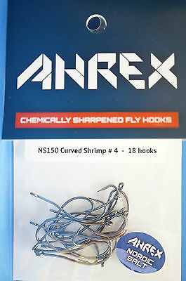 AHREX Haken NS150 CURVED SHRIMP #10 black nickel 18 Haken CURVED SHRIMP #10