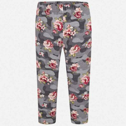 "Mayoral Girls ""Floral Patterned"" Leggings In Grey Multi aged 2-8 yrs 04706"