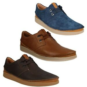 mens clarks leather suede lace up smart casual shoes size