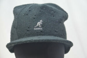 b3627c41863 kangol black cable beanie peak pull on cap hat 6500bc nwt new