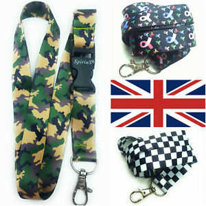 BIG SIZE Camouflage/Mil<wbr/>itary Spirius Lanyard for men Neck Strap for ID Card Key