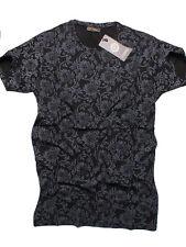 ON SALE!Men's Nwt Versace Club Wear Crew Neck Slim Fit Black T-Shirt Size- 2XL