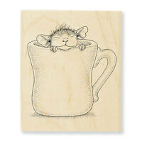 House Mouse Wood Mounted Rubber Stamp Stampendous Hmv04 Warm Cup Of Coffee